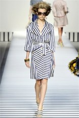 striped trench coat