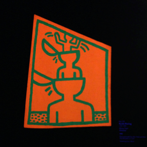 "Keith Haring, ""Untitled,"" 1982, Day Glo paint on metal"