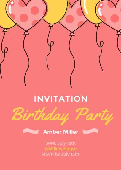 Birthday Invitation Party