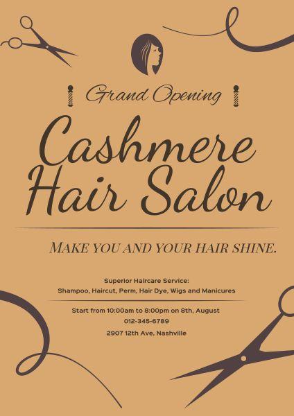 online hair salon grand opening poster