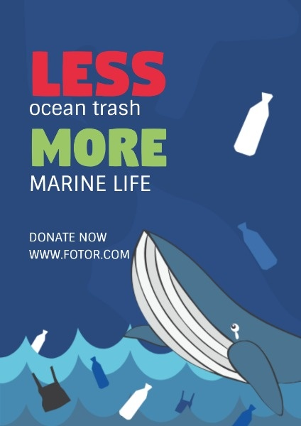 online ocean pollution poster template