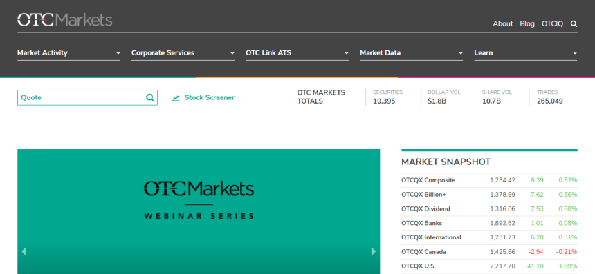 New OTC Markets Website Launching Soon! | PubCoCEO™