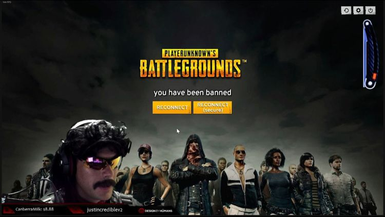 Top Twitch streamer banned from PUBG last night