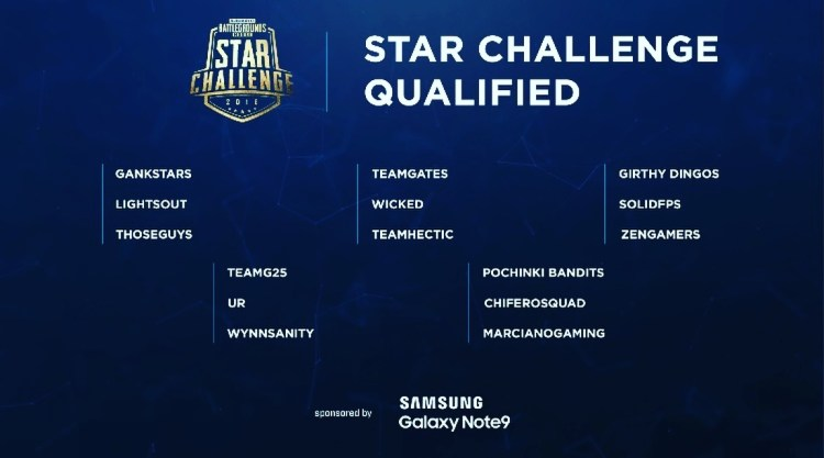 PUBG Mobile STAR Tournament qualifiers