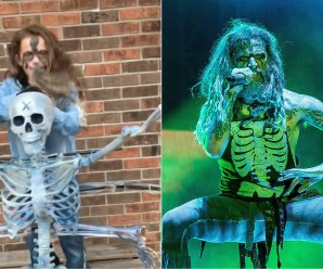 LITTLE GIRL SHOWS OFF ROB ZOMBIE COSTUME, ROCKER APPROVES