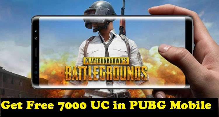 Get Free 7000 UC In PUBG Mobile Account [100% Working, No Trick Needed]