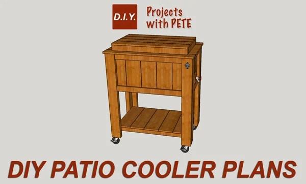 diy patio cooler ice chest plans