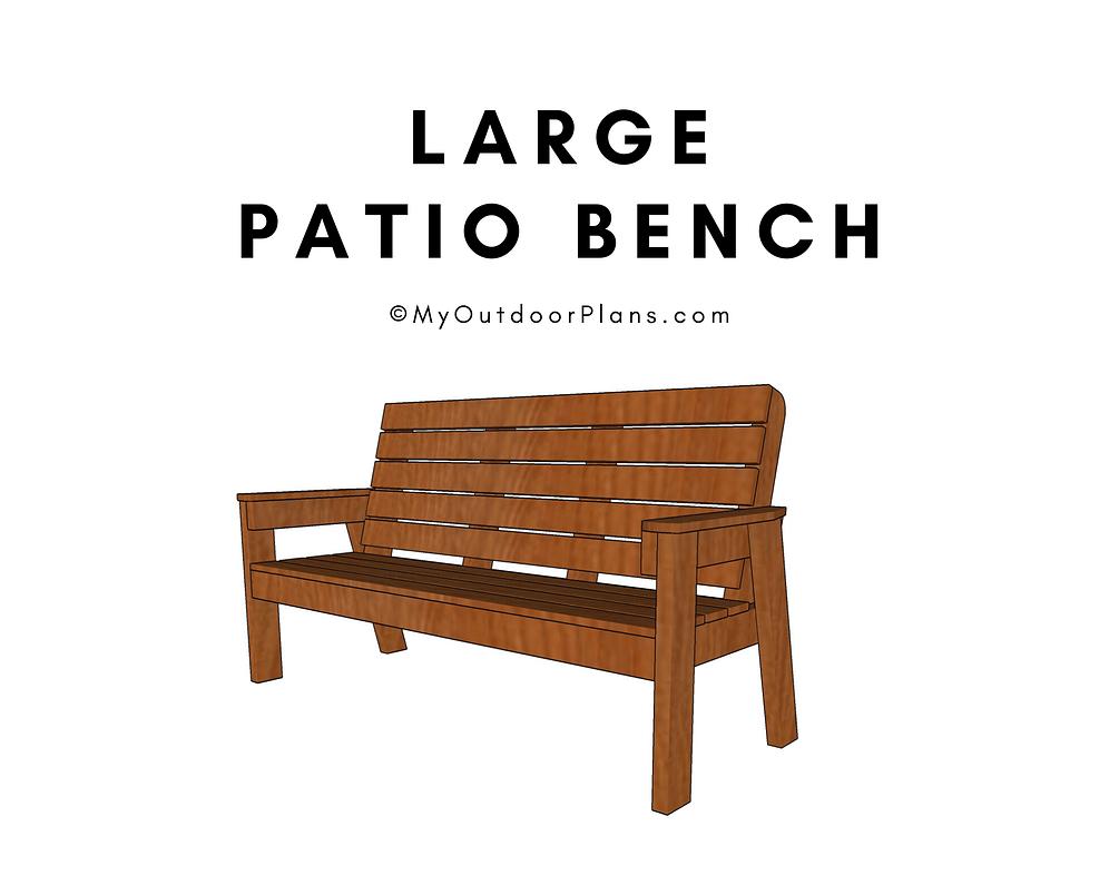 large patio bench plans