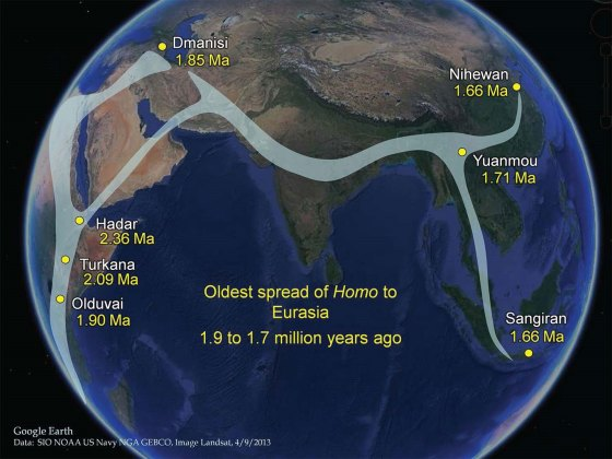 Spread of Genus Homo