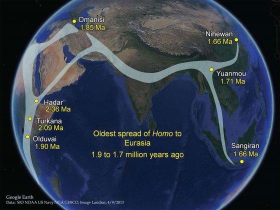 Spread of Genus Homo
