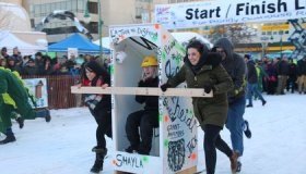 Inside the World's Largest Outhouse Race image