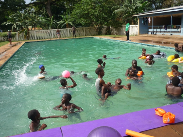 Swimming class at Makerere University (KSPH, Uganda)