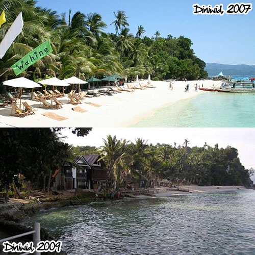 Diniwid, 2007 (top) and 2009 (bottom)