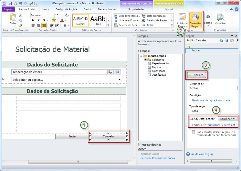 Publicando Formulário InfoPath no SharePoint (4/6)