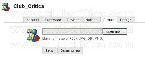 Personalizar perfil 2009