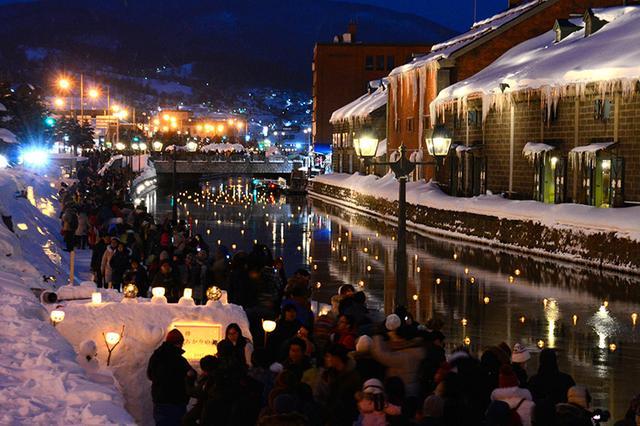 小樽雪燈之路開幕 12萬盞燭光燦爛運河夜:朝日新聞中文網