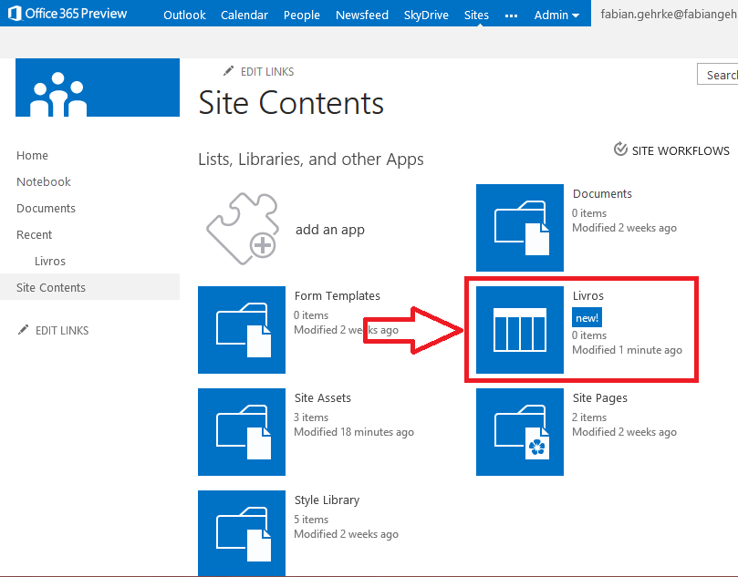 Novo Conceito no SharePoint 2013: Apps (5/6)