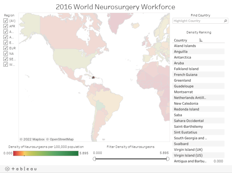 2016 World Neurosurgery Workforce