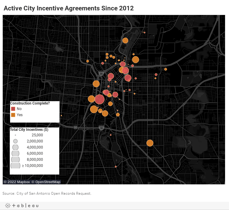 Active City Incentives Map