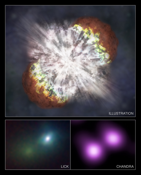 NASA\'s Chandra X-ray Observatory and ground-based optical telescopes have located the supernova SN 2006gy in 2006