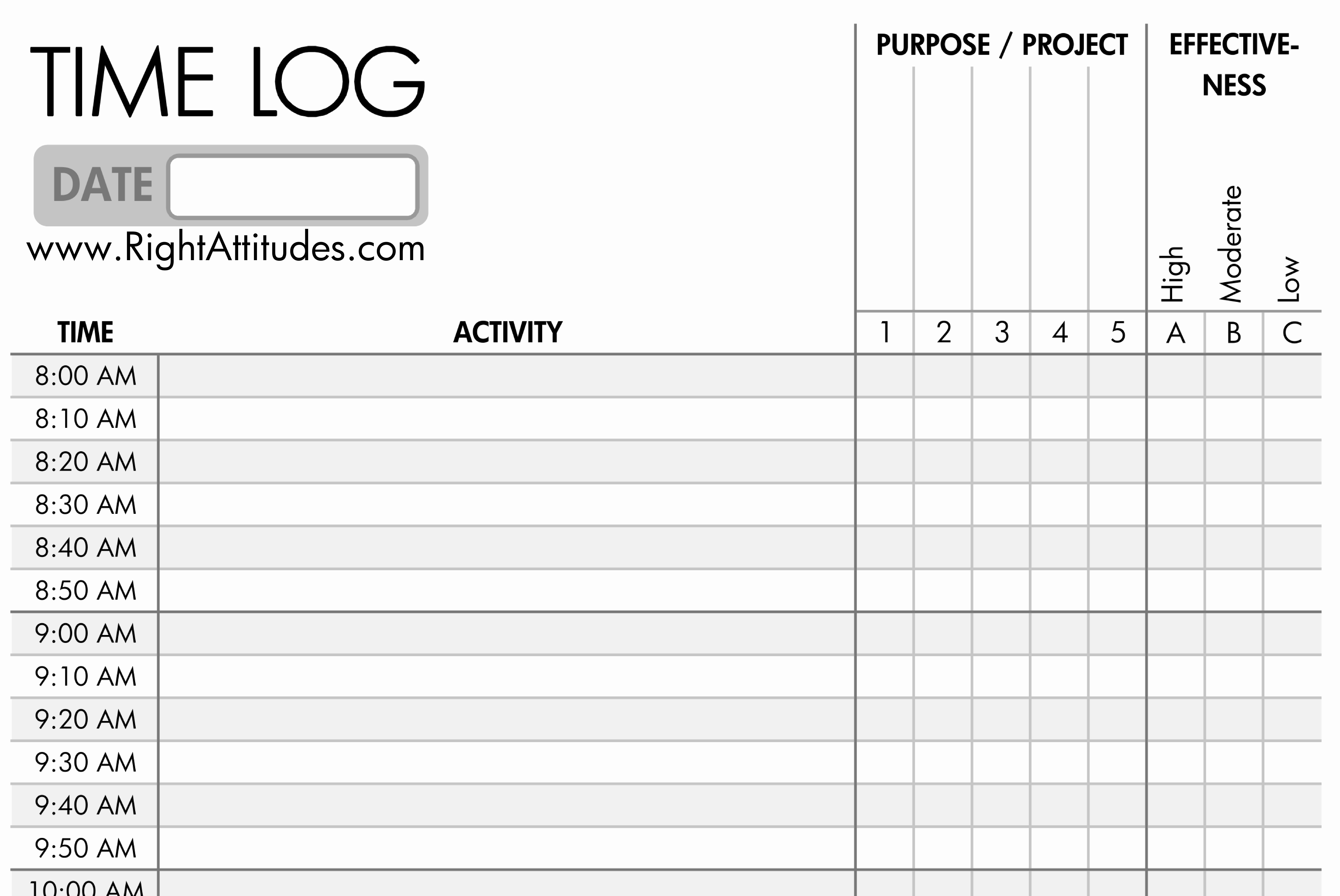 Time Management Template And 10 Great Time Management