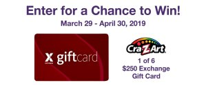 MOMC CraZArt Gift Card Sweepstakes