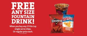 Express - Free Beverage with Frito Lay Chips Purchase