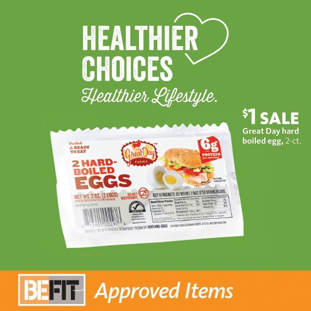 Express - BeFit Hard Boiled Eggs $1