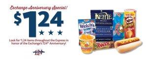 Express - $1.24 Specials