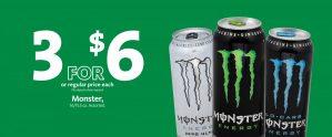 Express - Monster Energy Drink 3/$6
