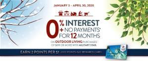 Outdoor Living 0% Financing Offer