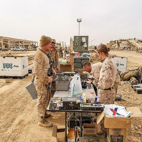 military shopper in the field