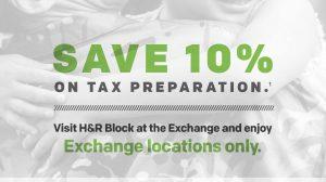 Exchange, H&R Block Offer Discount on Tax Preparation
