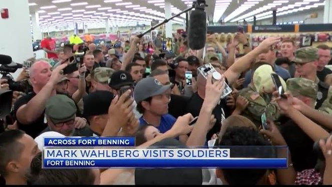 Mark Wahlberg visits soldiers at Fort Benning