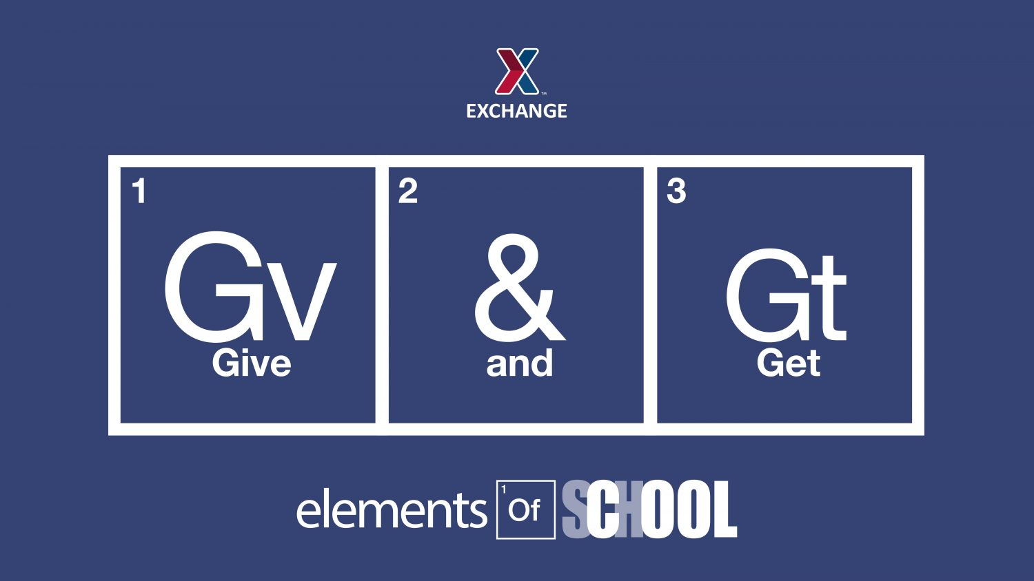 Give and Get Back Elements of School
