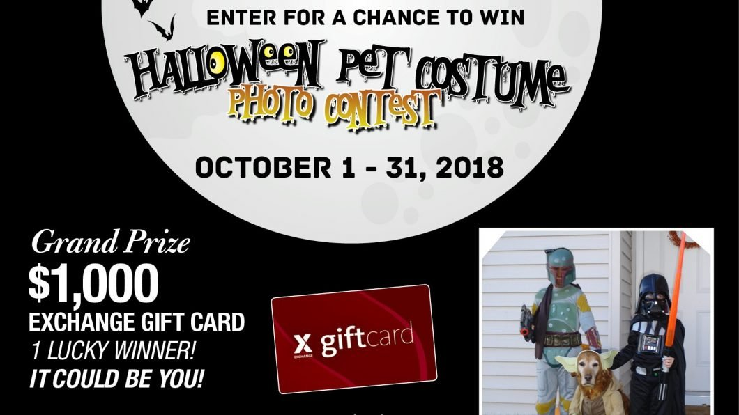 Enter for a chance to win Halloween Pet Photo Contest