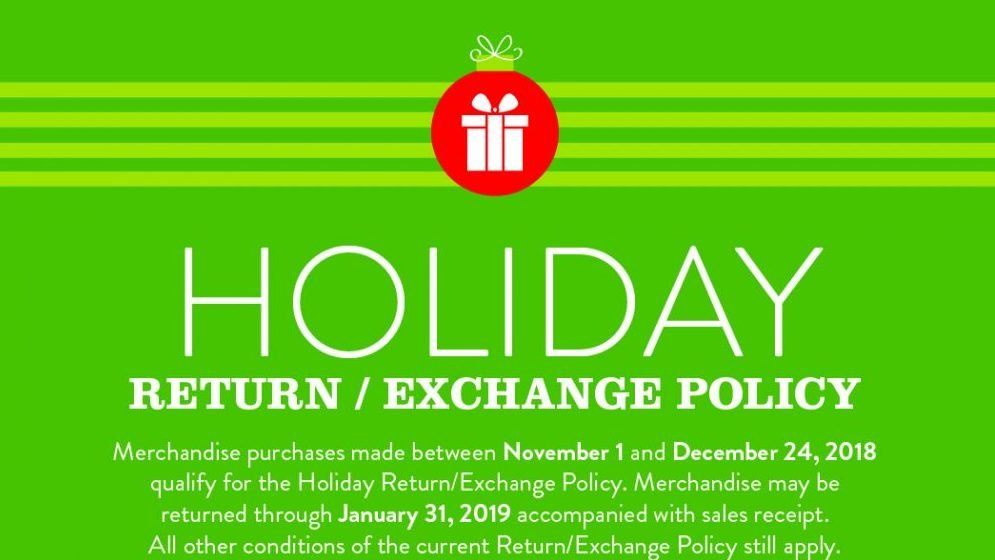 Exchange Extended Holiday Return Policy Offers Convenience For Military Shoppers The Exchange Newsroom