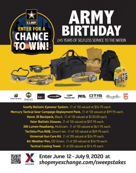 Army Birthday Sweepstakes poster