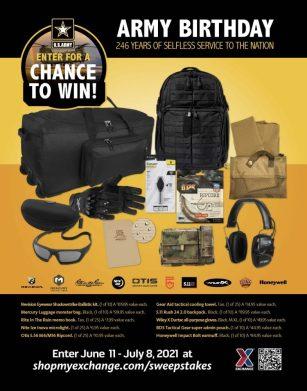 Army birthday sweepstakes prizes