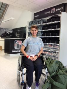 A wounded warrior visits the Wounded Heroes Service Center at Kleber Kaserne, Germany.