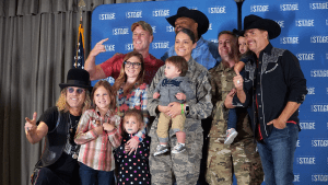 Country music act Big and Rich met with Airmen and their families and recorded a Veterans online shopping benefit for the Exchange's social media channels prior to their concert at Hurlburt Field on Oct. 26