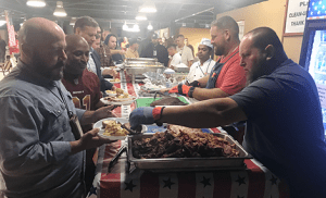 troops and barbecue