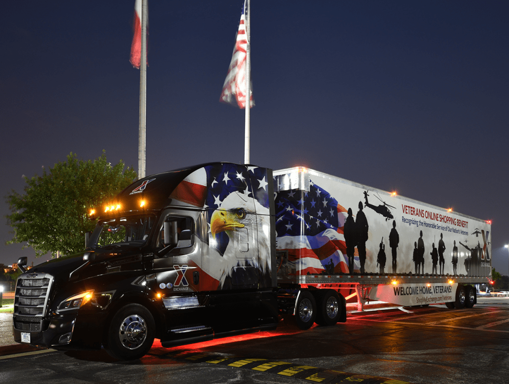 For the second straight year, the Exchange drove home with the Pride & Polish Best in Show People's Choice award at the 19th annual Great American Trucking Show Aug. 25 in Dallas. The truck design honored the Nation's Veterans.