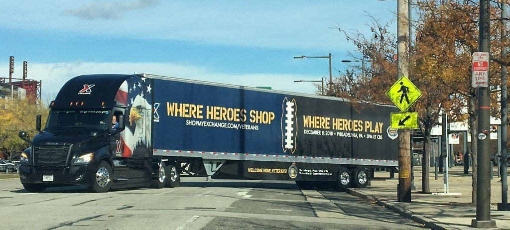 The Exchange truck that appeared at the Army-Navy game Dec. 8.