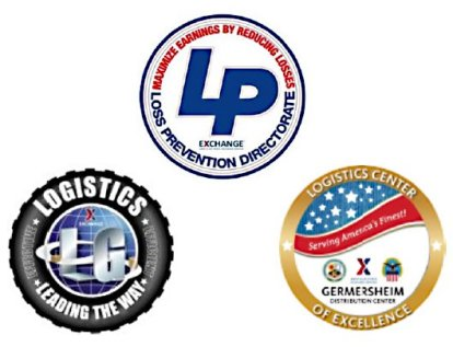 Logos for LP, Logistics, Germersheim