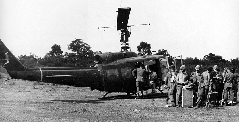 A helicopter was just one way the Exchange got basic necessities to the troops during the Vietnam War, 1967.