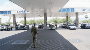 The First Sergeants Council surprise Airmen with $15 of free gas ahead of the Fourth of July weekend.