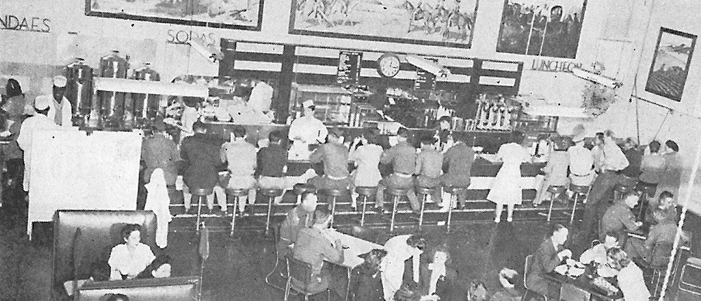 Fort Sill soda fountain, 1949