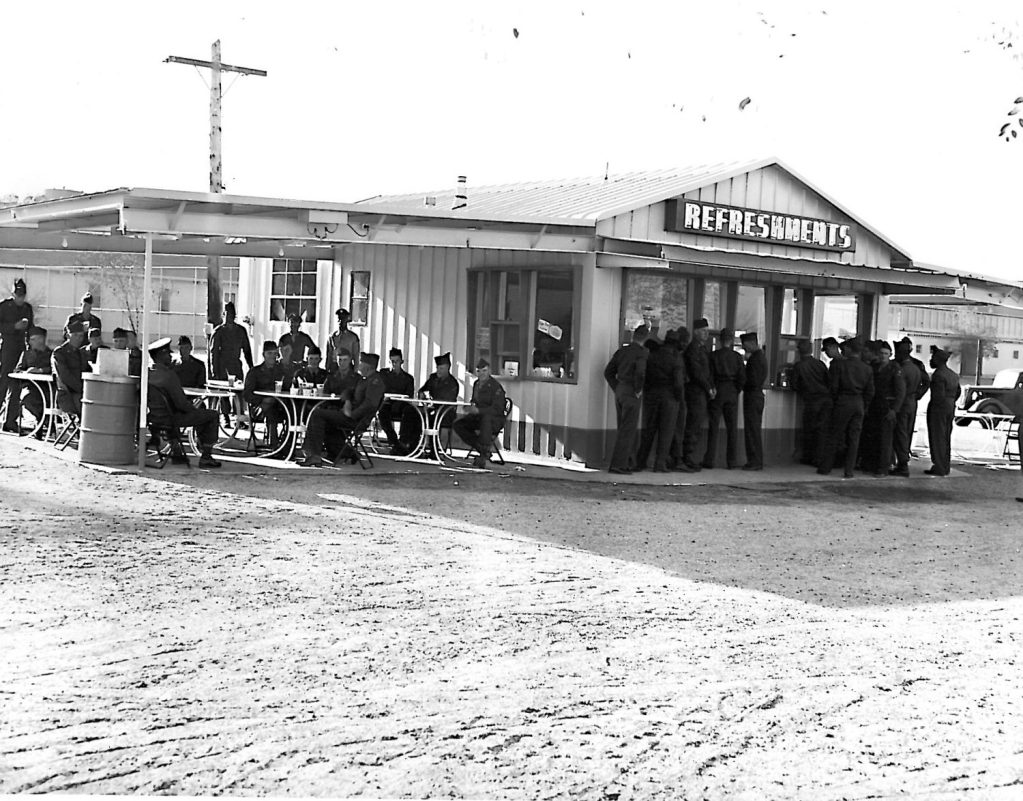 Camp Roberts, early 1950s. The installation now belongs to the California National Guard.
