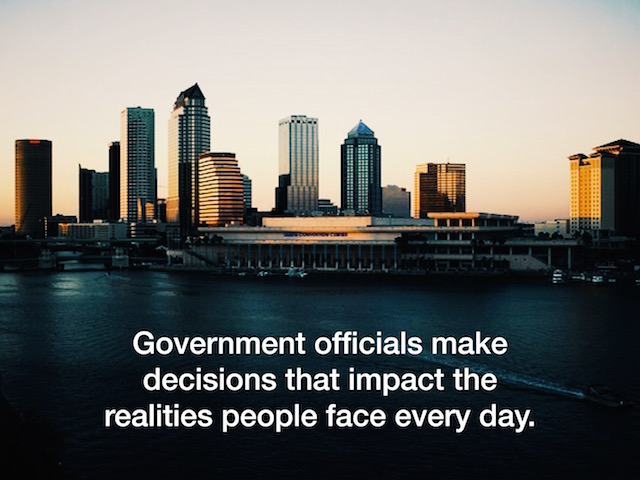 Image of Tampa Florida-Government officials make decisions that impact the realities people face every day public affairs